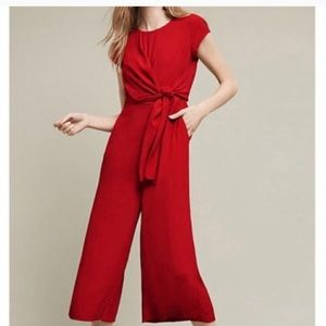 Maeve Grier jumpsuit with front knit in red